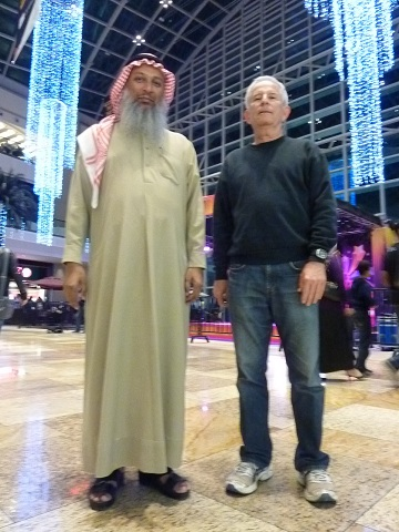Paul and Hasan Al Hariri (Dubai Astronomy Group) meet in Dubai, January 2013 to prepare for March 3 Watsonia asteroid occultation and to discuss the annular solar eclipse December 2019