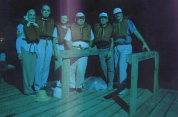 1992 Annular solar eclipse group Truk Lagoon, Micronesia