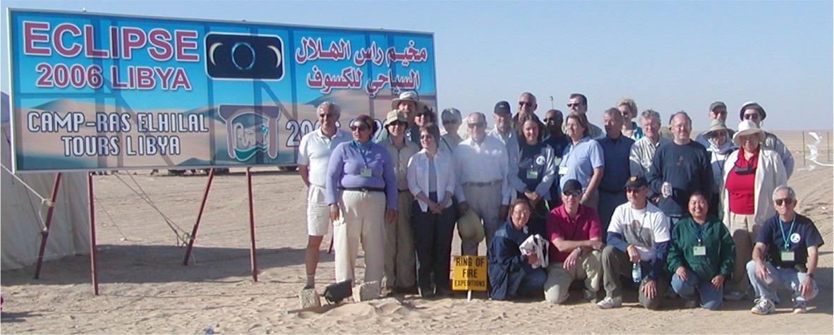 2006 Total solar eclipse group Jalu, Libya