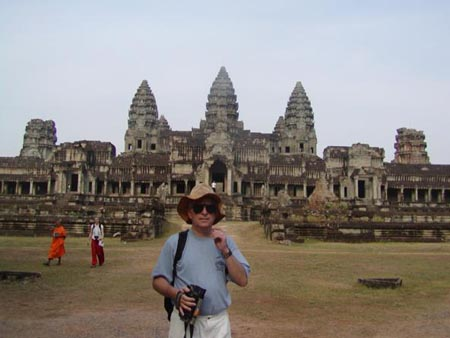 At Angkor Wat, Cambodia March 2003