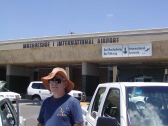 At the airport in Lesotho December, 2002