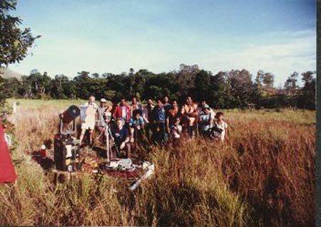 With JSCAS eclipse team At Kwikila, Papua New Guinea November, 1984