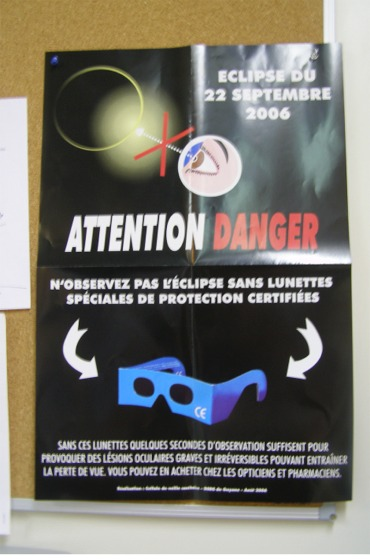 Cayenne, French Guiana in 2006 eclipse viewing safety