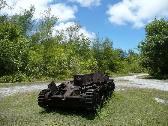 Japanese tank frozen in time