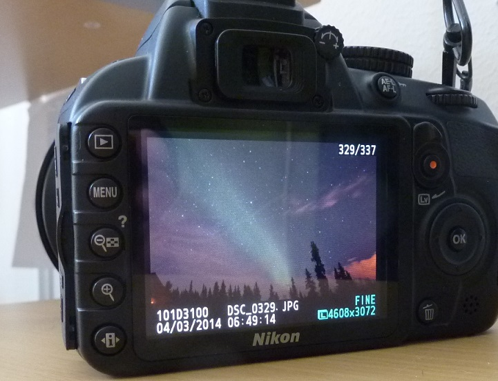 unzoomed images, aurora viewing