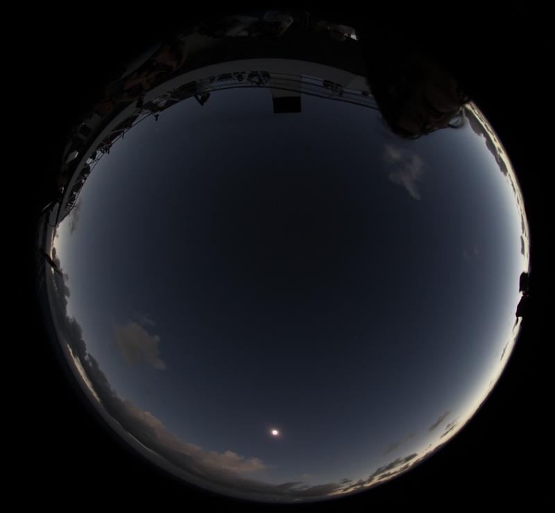 horizon glow solar eclipse